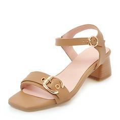 Femmes PU Talon bottier Sandales Escarpins À bout ouvert Escarpins avec Boucle chaussures