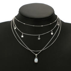 Star Shaped Alloy Necklaces