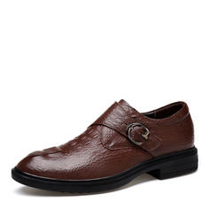 Monk-straps Casual Work Real Leather Men's Men's Oxfords