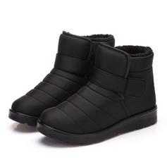 Frauen Herren Stoff Flascher Absatz Flache Schuhe Geschlossene Zehe Stiefel Schuhe