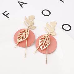 Stylish Leaves Shaped Alloy Women's Earrings