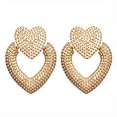 Heart Shaped Alloy Women's Earrings