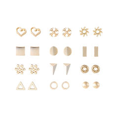 Unique Shining Exquisite Alloy Earrings (Set of 12 pairs)