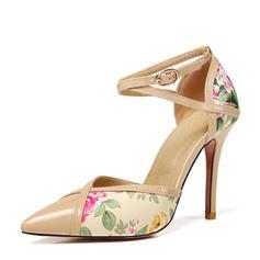 Femmes Cuir verni Talon stiletto Sandales Escarpins avec Dentelle chaussures