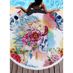 Floral/Retro/Vintage Oversized/round Beach Towel