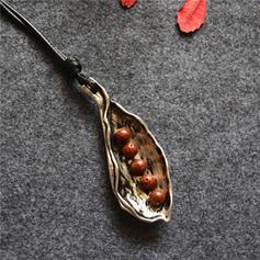 Екзотика Сплав Шкіряна мотузка з Імітаційні камені Кольє