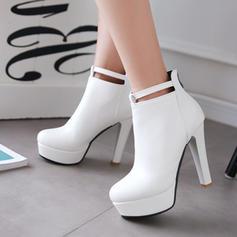 Dla kobiet Skóra ekologiczna Obcas Stiletto Kozaki Botki Z Klamra obuwie