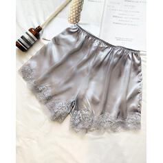 Solid Lace Casual Sexy Lace Shorts