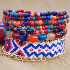 Beautiful Fashionable Exotic Alloy Women's Bracelets (Set of 7)