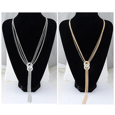 Shining Alloy With Rhinestone Ladies' Fashion Necklace