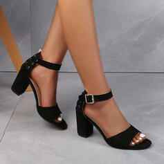 Сандалі Насоси взуття на короткій шпильці Каблуки з Пряжка В'язаний одяг взуття