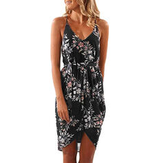 Print/Floral Sleeveless Sheath Asymmetrical Casual/Vacation Dresses