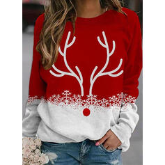 Zwierze Στρογγυλός λαιμός Μακρυμάνικο Χριστουγεννιάτικο μπλουζάκι