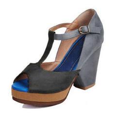 Женский PU Толстый каблук Сандалии с пряжка обувь