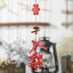 Merry Christmas Wooden Christmas Pendant Tree Hanging Ornaments