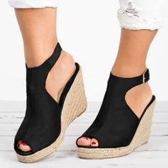 Women's Leatherette PU Wedge Heel Wedges With Others shoes