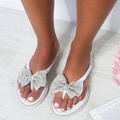Σανδάλια Σαγιονάρες Με Τεχνητό διαμάντι Bowknot Κουκούλα-έξω παπούτσια