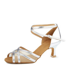 Women's Latin Heels Leatherette Mesh Latin