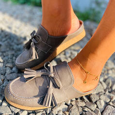 Mulheres Couro Sem salto Sem salto com Franja sapatos