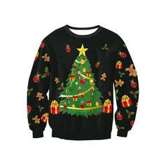 Hommes Polyester Spandex Inmprimé Sweat de Noël