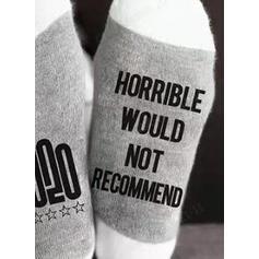 Tekst/Trykk Komfortabel/Jul/Crew sokker/2020/Unisex Sokker
