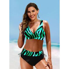 Ремень V шеи сексуальный марочный Большой размер Bikinis купальников