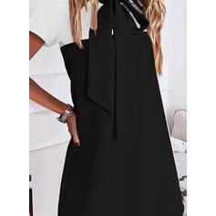 Wyszczuplająca Krótkie rękawy Koktajlowa Nad kolana Casual Tunika Sukienki