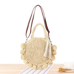 Braided Paper Rope Shoulder Bags/Beach Bags