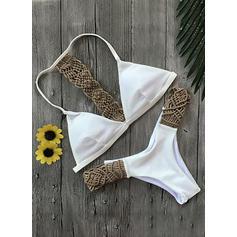 Couleur Unie À Bretelles Sexy Bikinis Maillots De Bain