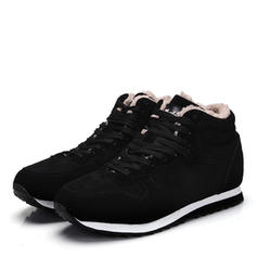 Women's Men's Suede Flat Heel Flats Boots shoes