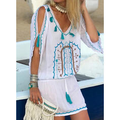Print 1/2 Sleeves Sheath Above Knee Casual/Boho/Vacation Dresses
