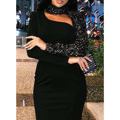 Sequins Long Sleeves Bodycon Midi Little Black/Party/Elegant Dresses