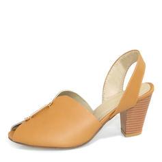 Vrouwen PU Chunky Heel Sandalen Pumps Peep Toe met Anderen schoenen