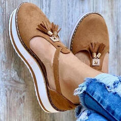 Women's Leatherette Flat Heel Sandals Closed Toe Slingbacks With Tassel shoes