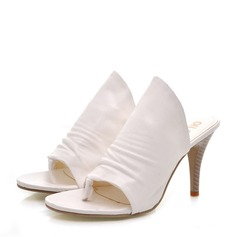 Women's Leatherette Stiletto Heel Sandals Pumps Slippers shoes