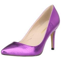 Dla kobiet Skóra ekologiczna Obcas Stiletto Czólenka Zakryte Palce Z Nadruk Zwierzęcy obuwie