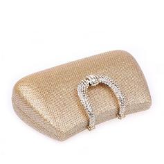 Elegante/Cor sólida/Luxo Cetim Embreagens/Porta Moedas de Noiva/Carteiras e Braceletes