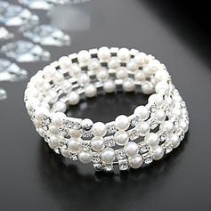 Hermoso Diamantes de imitación La perla de faux con Perlas de imitación Señoras' Pulseras de Moda