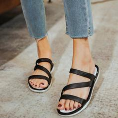 Women's PVC Low Heel Sandals Slippers With Hollow-out shoes