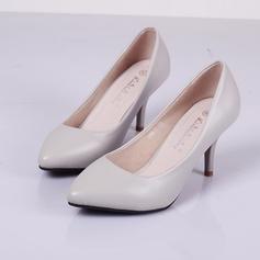 De mujer Cuero Tacón stilettos Salón zapatos
