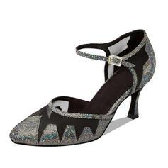 Women's Ballroom Heels Pumps Sparkling Glitter Modern