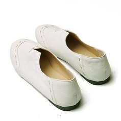 Vrouwen Kunstleer Flat Heel Flats Closed Toe met Gesplitste Stof schoenen