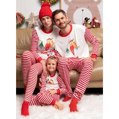 Gestreift Drucken Passende Familie Christmas Pajamas Pyjama