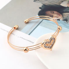 Heart Shaped Alloy Rhinestones With Rhinestone Jewelry Sets (Set of 4)