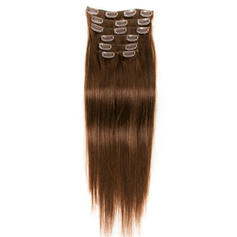 4A Straight Human Hair Clip in Hair Extensions 7pcs 70g
