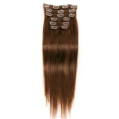 4A Derecho Cabello humano Extensiones de cabello con clip 7PCS 70g