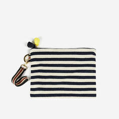 Stripe Cotton Wallets & Wristlets