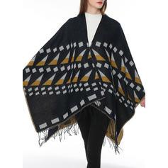 Tassel/geometriske Skriv ut Sjalar/attraktiv Skjerf/Poncho