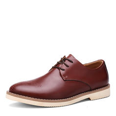 Men's Real Leather Brogue Casual Men's Oxfords