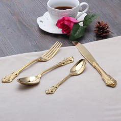 Vintage Stainless Steel Flatware Set (Set of 4)
